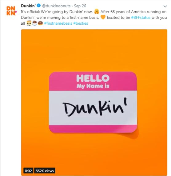 Dunkin Twitter